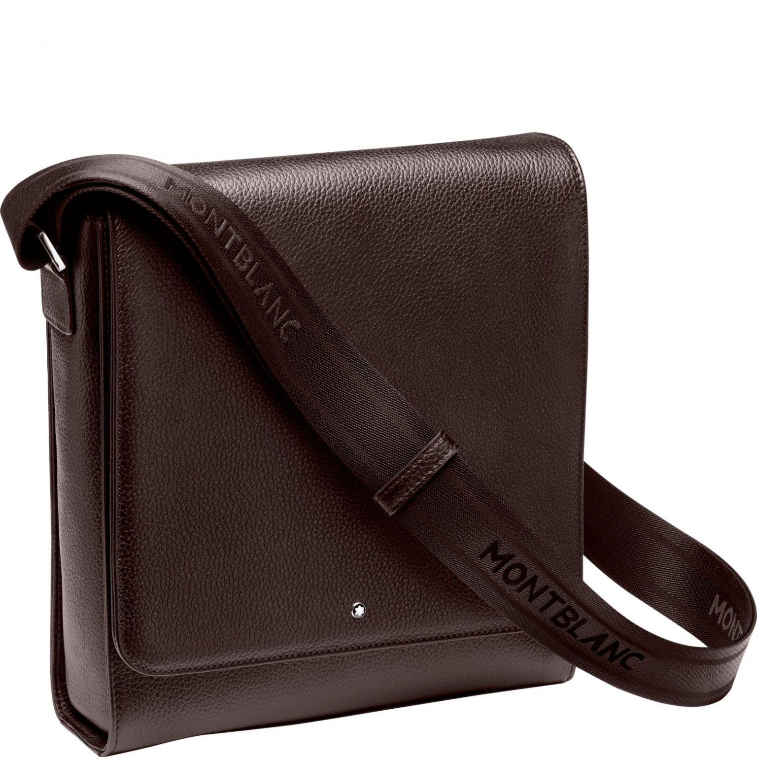 Cặp Da Montblanc Meisterstück Soft Grain North South Brown Leather